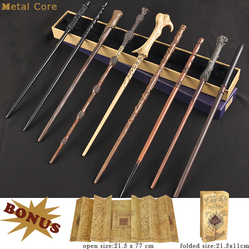 28 Kinds Of Potter Magic Wand With Gift Box Packing Metal-Core Magic Wand For Children Cosplay Harried Magical Wand With Bonus