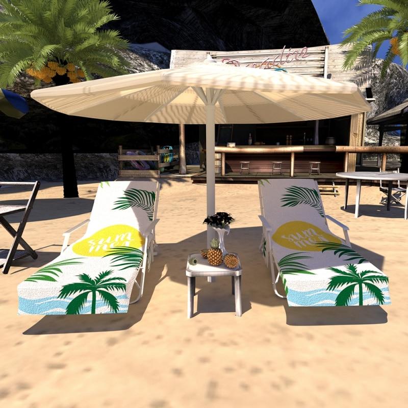Toalha de praia cadeira cobre piscina cadeira