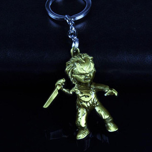 Image 5 - 10pcs/lot Fashion Jewelry Key Ring Horror Movie Seed of Chucky Keychain Figure Cosplay Pendant Key Chain Car Key Chains For Men
