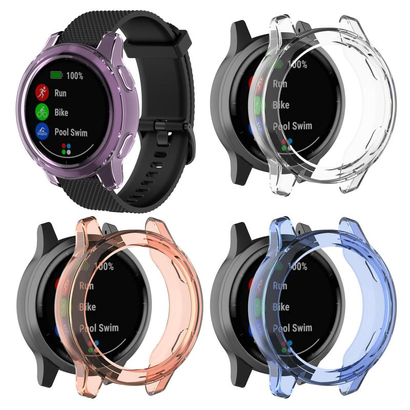 For Garmin Vivoactive 4 / Garmin Active Case TPU Smart Watch Protective Case The Protective Shell Dustproof And Waterproof Cover