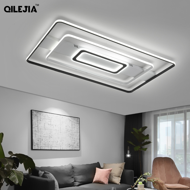 2020 New Modern Ceiling Lights Living Room Lamp Minimalist Super Bright Rectangular Hall Bedroom Restaurant Led Ceiling Lamp Ceiling Lights Aliexpress