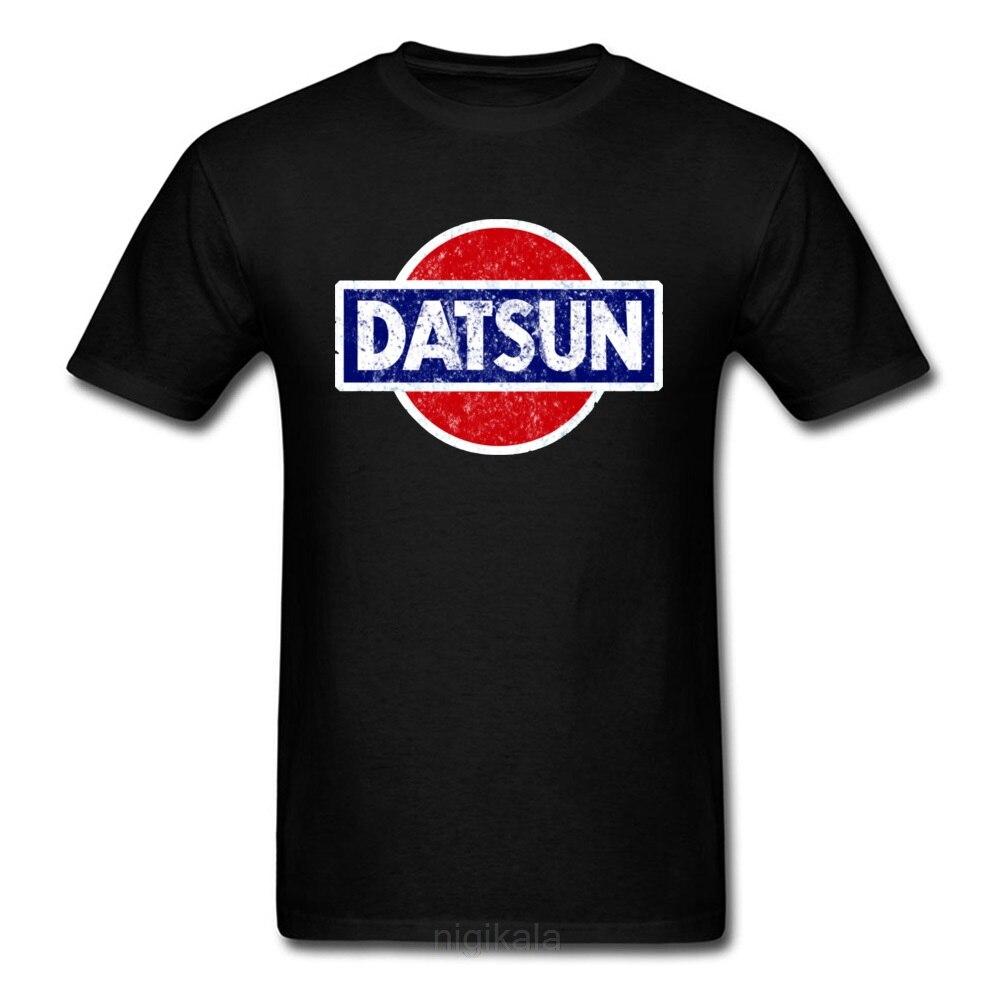 Datsun T-shirt Wagon Logo T Shirt Men Tshirt Black Clothing Japan Chic Tops Summer Tee Short Sleeve Red Car Streetwear