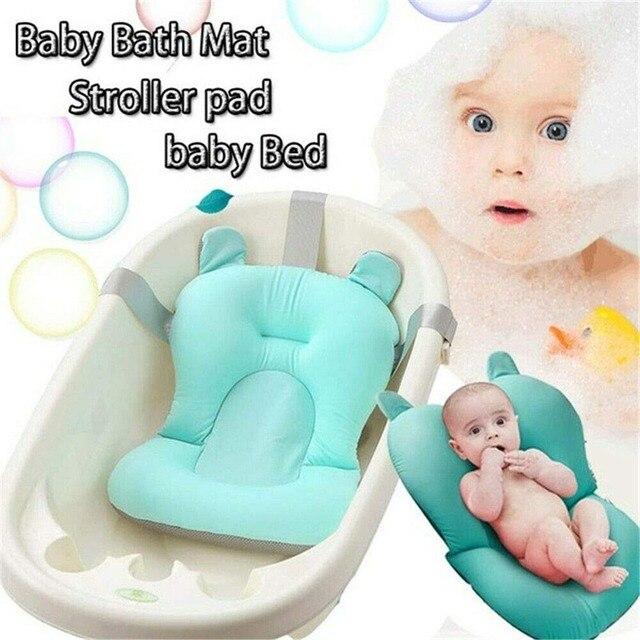 Pliable bébé chaise de bain nouveau-né infantile anti-dérapant baignoire tapis Portable douche antidérapant sécurité bain soutien coussin oreiller