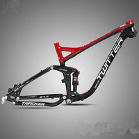 MTB Mountain Bike XC Off road Bicycle 27.5inch*17/19 Soft Tail Frame Full Suspension Frame Aluminum Alloy