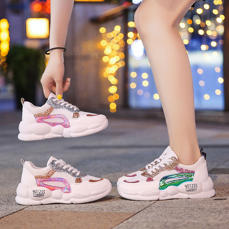 Incease women's sneakers vucanized shoes 2020 spring new leather platform sneakers woman platform shoes