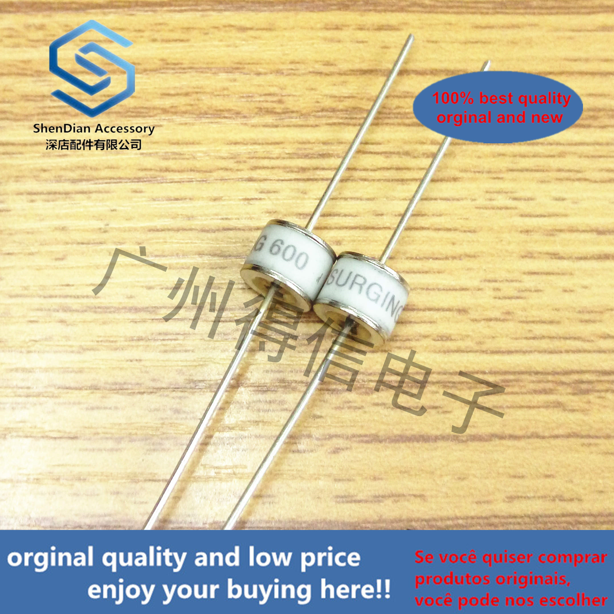 10pcs 100% Orginal New SXH81-252X 2R2500 2500V 8x6 Ceramic Gas Discharge Tube Lightning Protection Tube  Real Photo