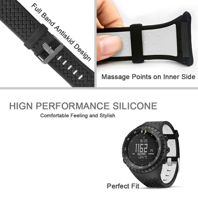 اثنين من لهجة لينة سيليكون حزام الساعات شريط للرسغ المضادة للخدش ساعة حالة واقي للشاشة لملحقات ساعة ذكية سونتو كور