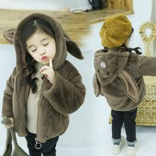 Little girl jacket, boy's autumn and winter jacket, children's jacket, warm jacket with hat, boy's jacket, children's jacket(China)