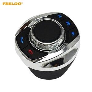 Image 1 - FEELDO nuova forma a tazza con luce a LED funzioni a 8 tasti pulsante di controllo del volante Wireless per auto per lettore di navigazione Android per auto