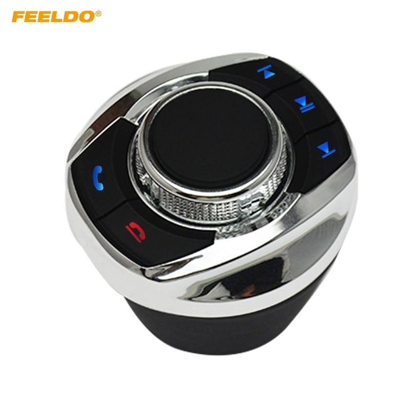 Feeldo Nieuwe Cup Vorm Met Led Licht 8-Key Functies Auto Draadloze Stuurbediening Knop Voor Auto Android navigatie Speler
