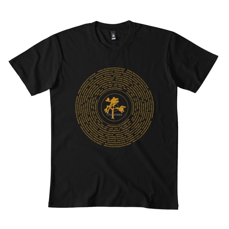 Классическая Черная Виниловая футболка с изображением дерева Джошуа DMN411