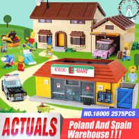 DHL 16005 de Simpsons Huis 16004 de Kwik-E-Mart Bouwstenen Bricks Compatibel legoinglys 71016 71006 Jongens geschenken