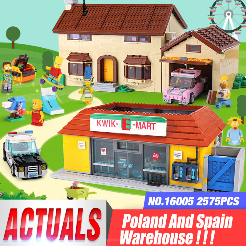 DHL 16005 the Carton House 16004 the Kwik-E-Mart Building Blocks Bricks Compatible with 71016 71006 Assembly House Model Kid Toy