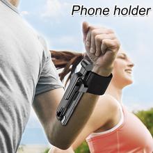 Outdoor Sports Invisible nowoczesny przenośny uchwyt do telefonu komórkowego leniwy opaska do biegania jazda 360 stopni obrotowy uniwersalny tanie tanio Woopower CN (pochodzenie) Other plastic white black