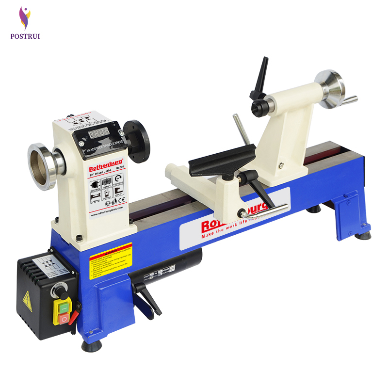 Unlimited Gearbox Wood Lathe Miniature Bench Lathe Household Stepless Rotary Lathe Machine Wood Rotary Machine