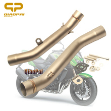 Motorcycle Exhaust Connector Pipe Adapter Muffler 51 for Kawasaki Z750 Z800 Exhaust Accessories 2007 2008 2009 2010 2011 2012 for kawasaki kx250f 2005 2006 2007 2008 2009 2010 2011 2012 modified motorcycle exhaust pipe motorbike muffler 51mm