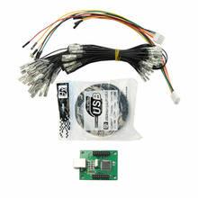 Codificador de arcada para controlador usb 187 fiação 2 jogadores kit diy para raspberry pi mame pc ps3