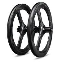 2020 Ican Newest 3 spokes Tri-Spoke Lightweight 16 inch 349 depth 40mm width 23mm carbon bmx Brompton wheels for folding bike