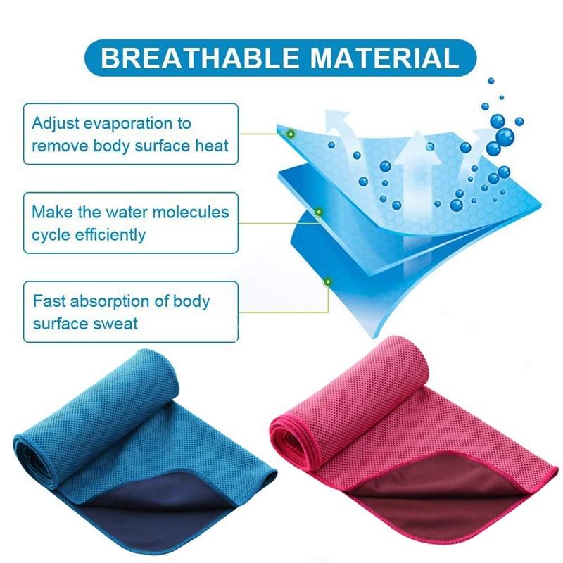 6 pacote de toalha refrigerando macio respirável