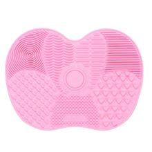 1 pc Silicone Brush Cleaner Makeup Brush Clean Pad Cleaning Mat Washing Scrubber Board Pads Cosmetic Makeup Cleaner Tool