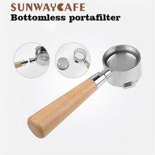 القهوة Bottomless Portafilter ل Delonghi EC680/EC685 تصفية 51 مللي متر الفولاذ المقاوم للصدأ استبدال سلة المرشح مستلزمات قهوة