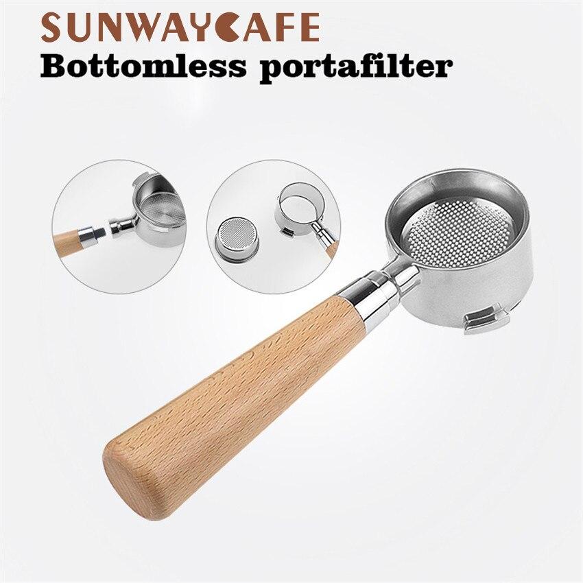 Kaffee Boden Siebträger Für Delonghi EC680/EC685 Filter 51MM Edelstahl Ersatz Filter Korb Kaffee Zubehör