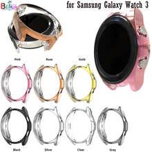 Funda protectora de pantalla para Samsung Galaxy Watch 3, 45mm, 41MM, suave, ultrafina, Tpu, transparente, color chapado