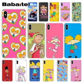 Babaite Hey Arnold Painted Beautiful Phone Accessories Case for Apple iPhone 8 7 6 6S Plus X XS MAX 5 5S 11 11pro Mobile Cases image