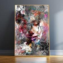 Граффити для девочек красочная картина маслом на абстрактном