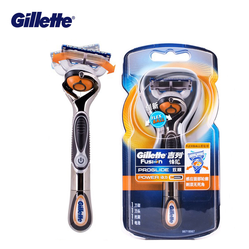 Electric Shaver Gillette Fusion Powered Razors Men Electric Razor 1 Holder With 1 Blades Genuine Safety Razors Fusion Proglide
