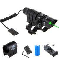 VASTFIRE-mira telescópica táctica Wepon, luz verde/roja, montaje de mira, Rifle de caza, barril, interruptor de presión remota