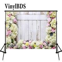 VinylBDS 꽃 벽 배경 봄 사진 배경 로맨틱 웨딩 사진 배경 대형 원활한 사진