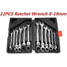 Car repair tool wrench set ratchet universal