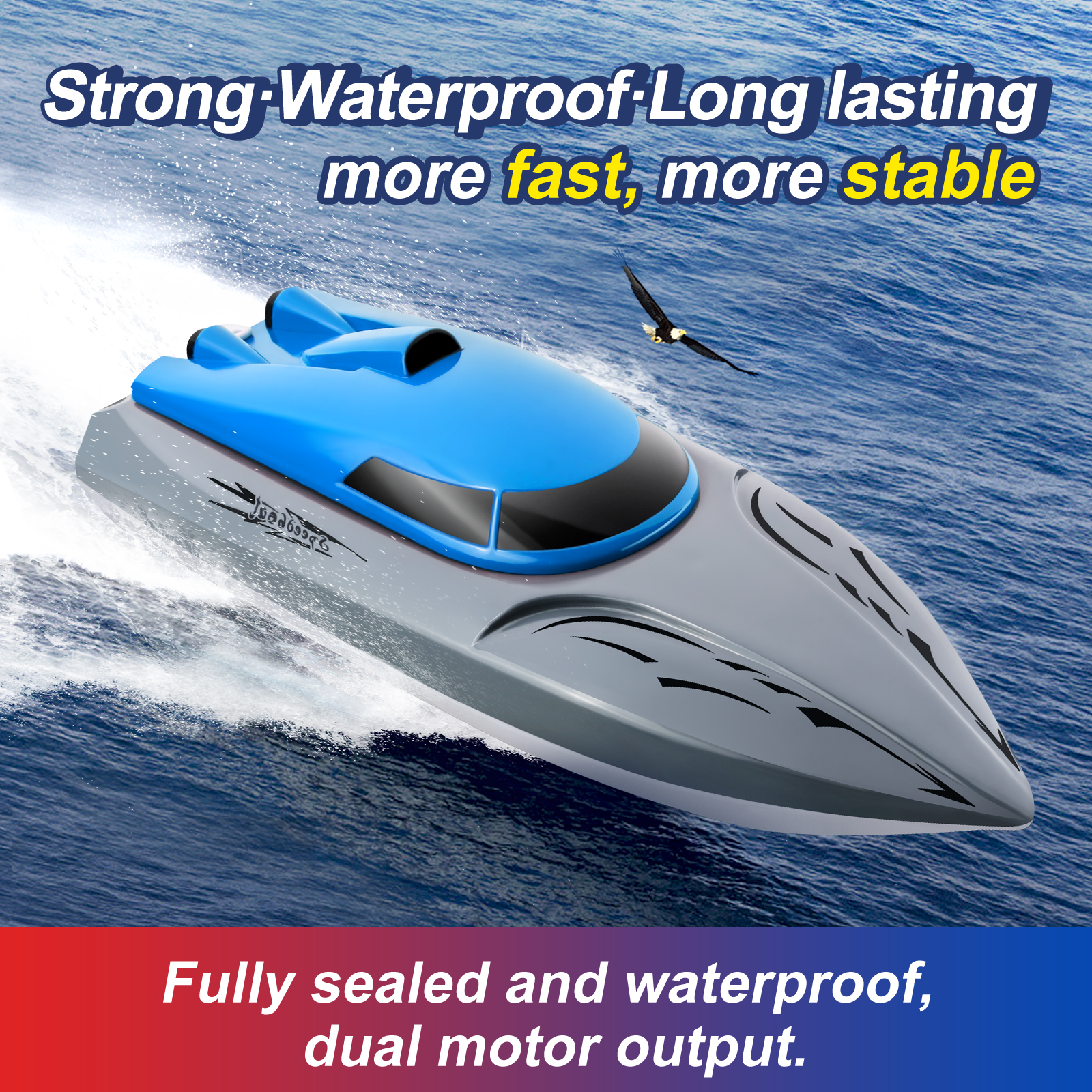 Remote Control High Speed Boat Endurance Speedboat Children's Competition Summer Water Toys