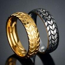 Кольца в байкерском стиле для мужчин и женщин, крутые мотоциклетные украшения в стиле панк, хип-хоп, вечерняя бижутерия, золотистого и сереб...
