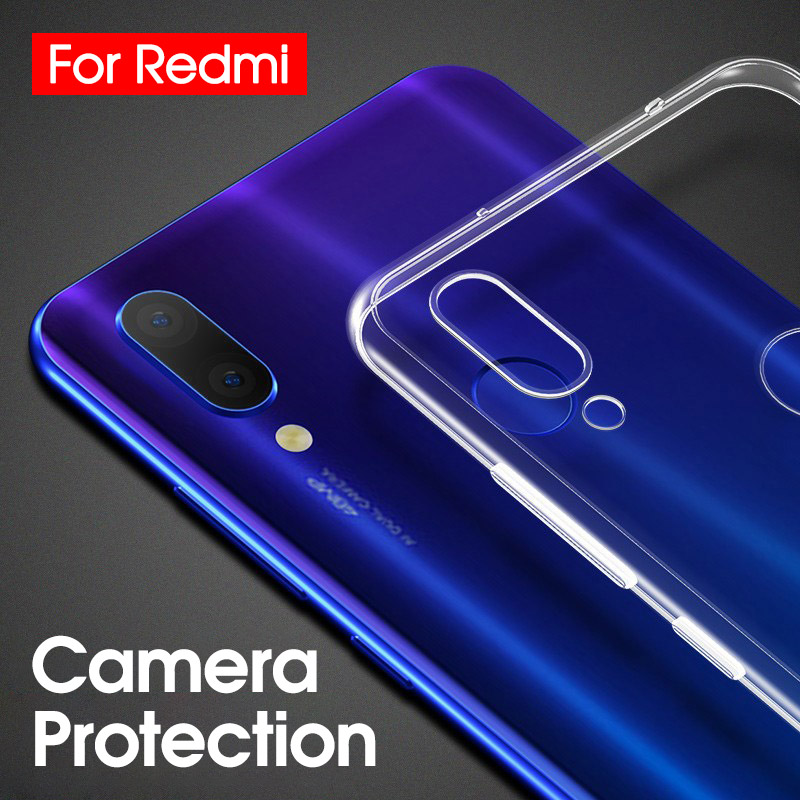 Ultra Slim Clear Transparent Soft TPU Case For Xiaomi Mi 9 9SE CC9 CC9E 9 Explorer Silicone Slim Cover For Redmi 7 7a Note 7 Pro
