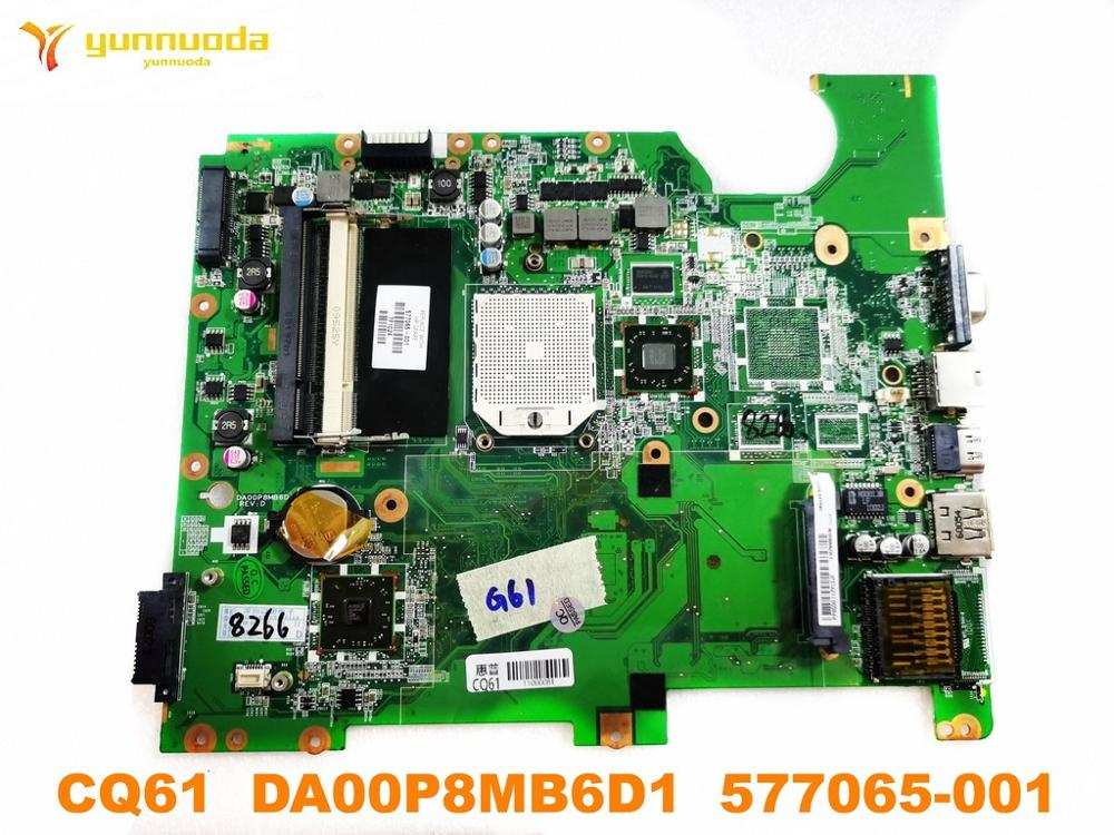 Original For HP CQ61 Laptop Motherboard CQ61  DA00P8MB6D1  577065-001  Tested Good Free Shipping