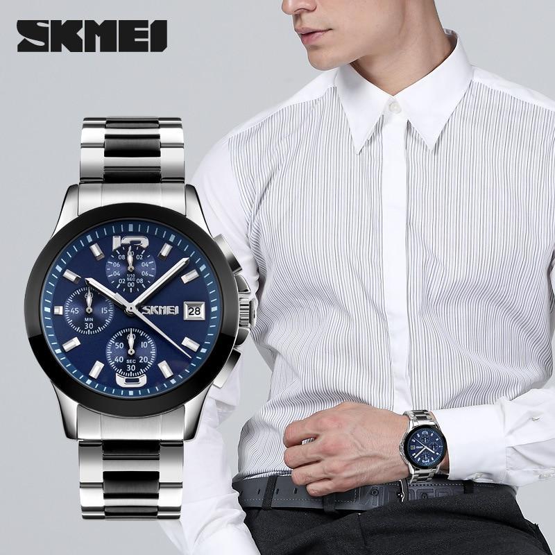 relógio de negócios lazer masculino shi ying aço tira relógio