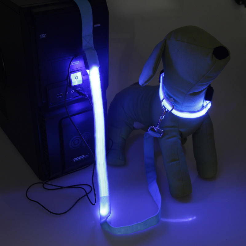 LED Shining Pet Dog Hand Holding Rope Dog Pulling Rope Dog Traction Rope Pet Dog Rope Mixed Batch