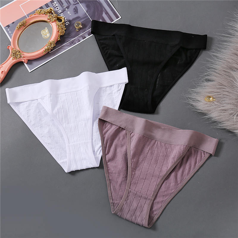 Women Underwear Cotton Panties Female Underpants Sexy Low Waist Panties Briefs For Girls Solid Color Womens Intimate Lingerie