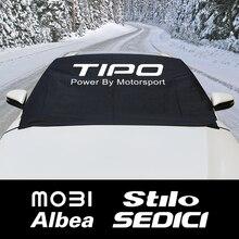 Parabrisas de coche nieve bloque cubierta TIPO parasol para Fiat 124SPIDER ABARTH Albea CRONOS DOBLO DUCATO MOBI SEDICI Stilo TIPO TORO UNO