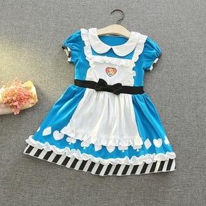 Image 3 - תינוקת קריקטורה שמלת שלגיה נסיכת סופיה קוספליי שמלת ילדה תינוק בגדי E5099
