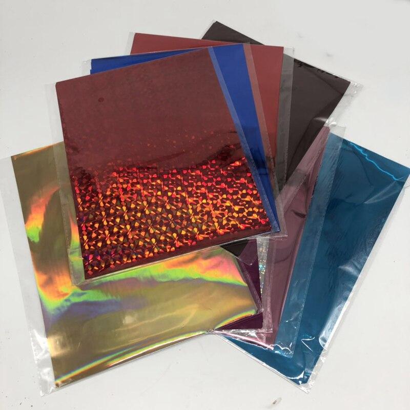 50Pcs Gold Black Red Hot Stamping Foil Paper Laminator Laminating Transfer On Elegance Laser Printer Craft 20x29cm A4