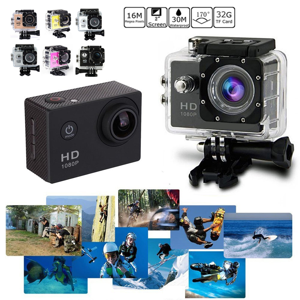 Premium Waterproof Camera Video Recorder Swimming Photo 2.0 Inch 90 Degree Support TF Card Camcorder Photography 1080P