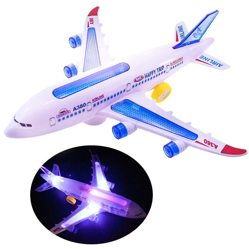 Детский самолет со светодиодной подсветкой музыкальный самолет игрушки для детей самодельная Сборная модель самолета электрическая игруш...