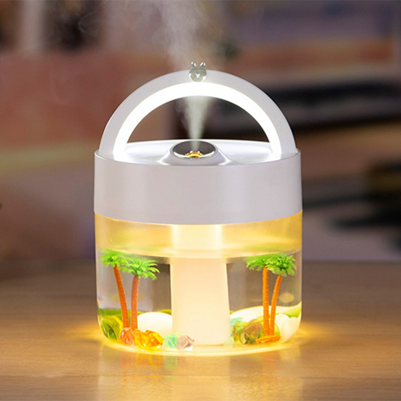 1L Large Capacity Desktop Humidifier USB Charging 3000MAh Electric Night Light Portable Humidifier