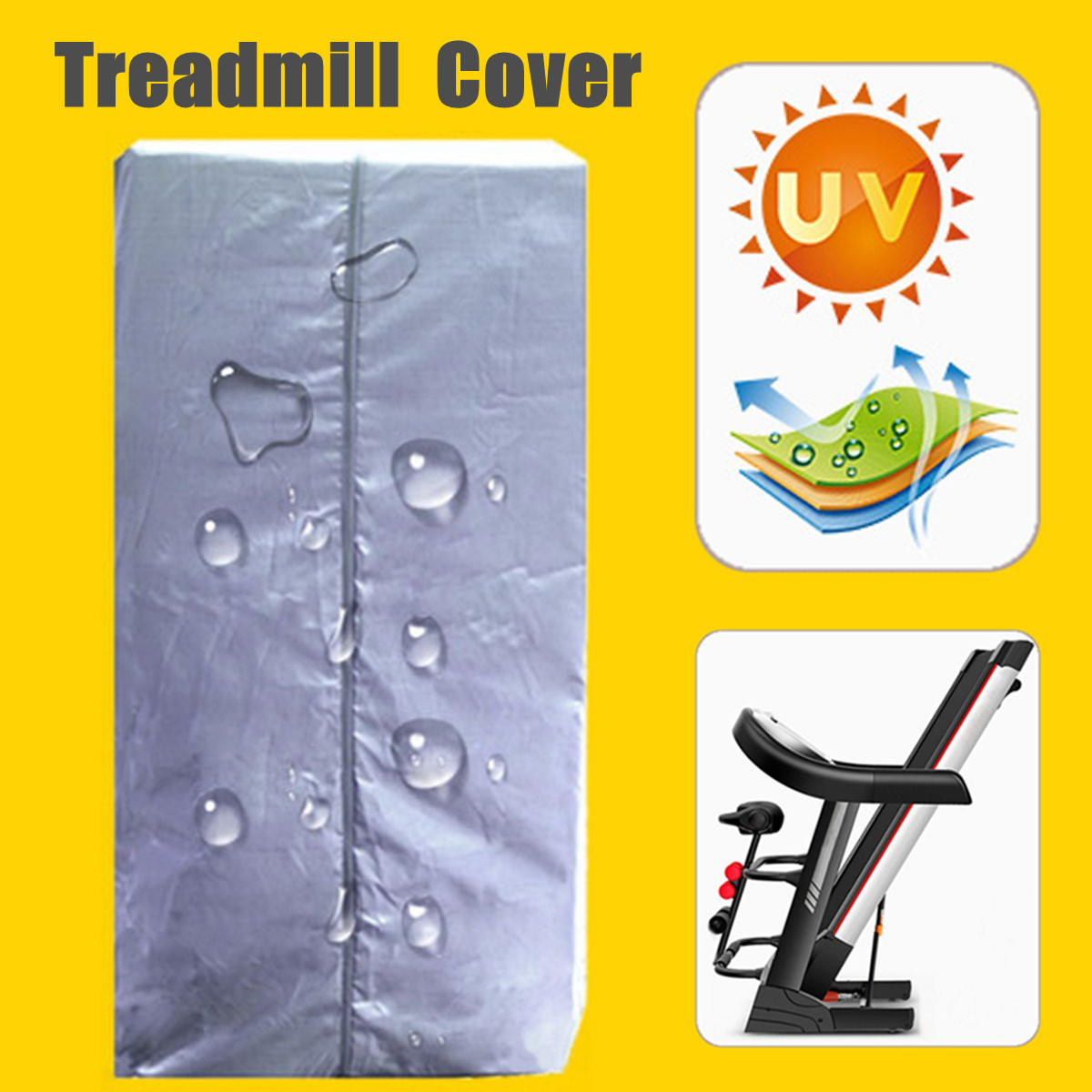 Indoor Polyester Waterproof Treadmill Cover Running Jogging Machine Dust Proof Shelter Protection Treadmill Dust Covers Shelter