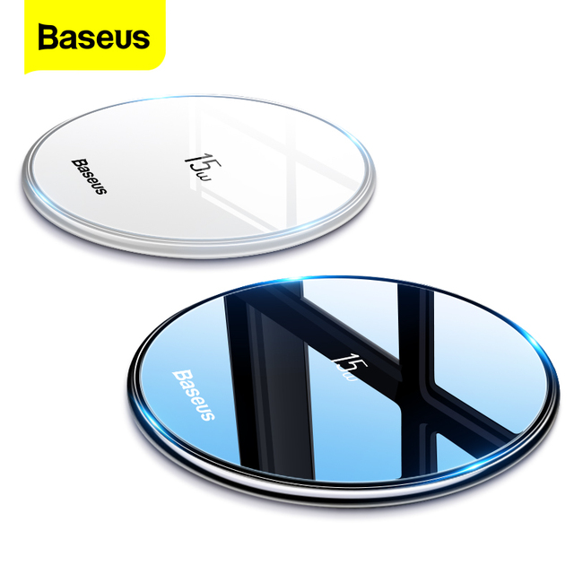 $ US $11.99 Baseus 15W Qi Wireless Charger for iPhone 11 Pro Xs Max X 8 Induction Fast Wireless Charging Pad for Samsung S20 Huawei Xiaomi 9
