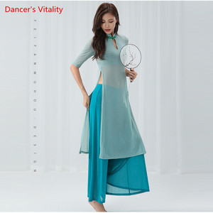 Image 2 - Belly Dance Cheongsam Training Clothes New Cheongsam Costumes Suit Modern Dance Clothes
