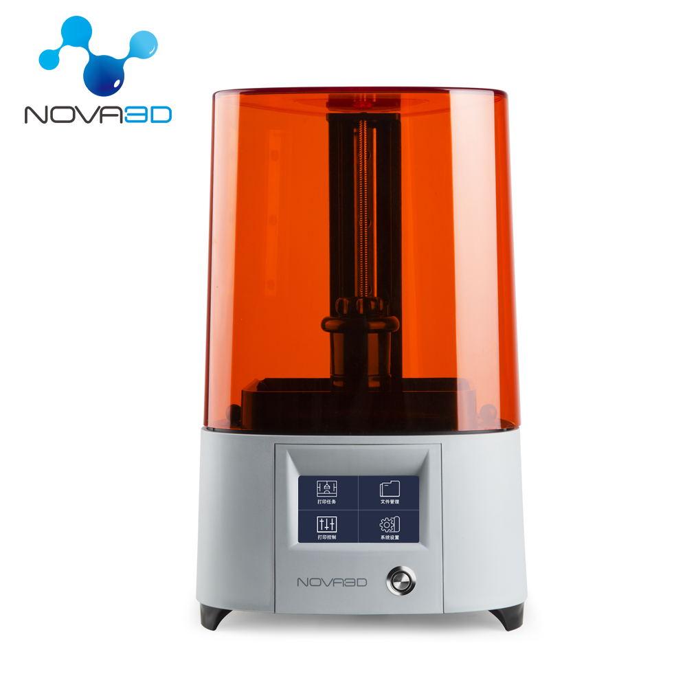 NOVA3D ELFIN Cheap Resin 3D Printer Permanent Levelling Design Support 405nm Resin UV SLA 3D Printer Light Curing Impresora|3D Printers| |  - title=